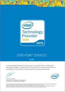 intel certificate 2015